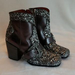 Wmns size 5 Coach glitter ankle boots